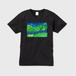 「森の中へ」メンズVネックTシャツ
