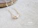 4月誕生石/ハーキマーダイヤモンド一粒14kgfネックレス