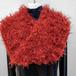 手編み:スヌード 赤モケモケ