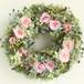 プリザーブドフラワー リース M ブライダルピンクのバラが可憐でナチュラルな森の白雪姫リース 直径23cm
