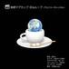 地球マグカップ/ループ(アルファーチャンネル)