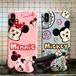 オリジナル iphone xケース カップル オシャレ iphone8 plusケース ディズニー ミッキー ミニー  アイフォン 7カバー 可愛い ストラップ付き 携帯カバー