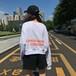 【即納♡】長袖トップスソリッドカラーロゴプリント  6903