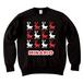 minario / DOT REINDEER LOGO CREWNECK SWEAT BLACK