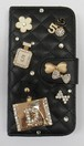 iphone6ケース デコ スワロフスキー 香水瓶 リボン