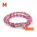 【Mサイズ】ブレスレット / オレンジ×ブルー×ホワイト (No.0006B)