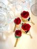 オーダー Reiko.T様  ✧情熱の赤いデカ薔薇 &ラピスラズリ ✧薔薇&ターコイズ ピアス