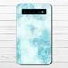 モバイルバッテリー 大理石柄 かわいい セール おしゃれ マーブル柄 iphone スマホ 充電器 タイトル:marble blue
