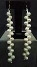 ホワイト淡水pearl ピアス long