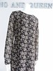 Black Floral Long Maxi Long Sleeve Dress 黒に花柄 ロング マキシ丈 ワンピース KQDYI1120