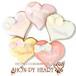 【期間限定セール360円】リボンのマーブルハート SHON-PY HEART 結婚式プチギフト