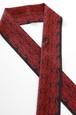 グラースオリジナル半衿 ダマスク×ユニコーン2 黒×赤 ポリエステル100%