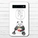 #074-002 モバイルバッテリー 悪いこと言うパンダ ラーメン かわいい 動物 おもしろい iphone スマホ 充電器 タイトル:ラーメンについて悪いこと言うパンダ 作:こさつね