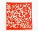 手染め風呂敷 ひょうたん 赤色 Lサイズ