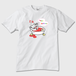 ガウガウさんのハッピーバスタイム メンズTシャツ