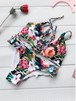 【送料無料】花柄プリント クロスアップ 編み上げ ビキニ 水着