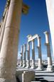 シリアのパルミラ遺跡  大理石の列柱通り