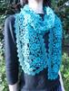 手編み タティングレース スカーフ グリーン