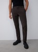 ELASTIC COTTON CHINO TROUSERS