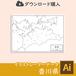 香川県の白地図データ