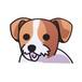 ジャックラッセルテリア(小) 犬ステッカー