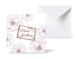 12種類のスクエアグリーティングカード 《Line Flowers Bordeaux ラインフラワー/ボルドー 》