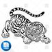 【png画像素材】虎7 Lサイズ  横3000px × 縦2265px