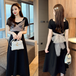 【dress】ファッションand清新!切り替え着瘦せデートワンピース着心地良い