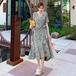 【dress】韓国系一目惚れ清新人気デザイン着痩せ花柄ワンピース合わせやすい