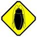 ゴキブリに注意 ステッカー