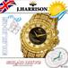 【J.HARRISON】 JH-025GB ソーラー電波時計