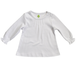 上質コットン100% ピンタックがキュートなAライン長袖Tシャツ(ホワイト)[お名前タグ付]