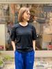 WOMENS:tsukinowa【ツキノワ】レーススリーブTee(ブラック/FREEサイズ)Tシャツ