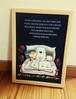 ほっこりポスター「ベッドで絵本」