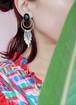 silver 925 onyx earrings