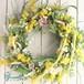 春の訪れを告げる、黄色い幸せのスパイラル【SUN DANSE~ミモザのアーティフィシャルリース】