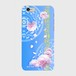 【iPhoneシリーズ】Peony Dream 芍薬の夢 スカイブルー ツヤありハード型スマホケース