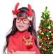 大人気 X'mas 赤メガネに赤いトナカイの角 付き♡ nfab132