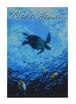 Aloha Hawaii ポストカード 絵画:タートル(Turtle)