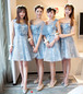 【送料無料】ブライズメイド Aラインドレス ひざ上丈 レース 結婚式 パーティー お呼ばれ 二次会 ドレスアップ(B325)