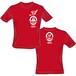 【50%OFF】ハヤブサ×串猿 コラボレーションTシャツ (赤body×白print)
