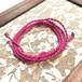マクラメ編みネックレスコード(ピンク)
