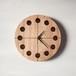 木の時計マル(Φ240) No14 | クルミ【針、選択可】
