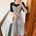 【dress】気質満点大人可愛い スウィート切り替え花柄ワンピースゆったり