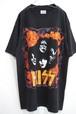 1990's KISS '96USAツアー ロックTシャツ USA製 ブラック 表記(L) キッス
