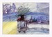 """3 単品カード  """"青い部屋""""(10枚セット)"""