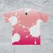 L-ピンマイクTシャツ/メンズ*インクグラデーションピンク【手描きオリジナルデザイン】