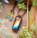 *Rainbow* Labradorite Macrame Necklace