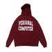 mas. - PERSONAL COMPUTER UNIVERSITY ECO FLEECE PULLOVER HOODED (Burgundy)