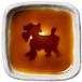 シュナウザーのシルエットが浮かぶお醤油小皿(四角)